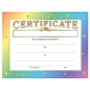 Certificate For (Write In) Gold Foil-Stamped Certificates - Pack of 25