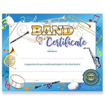 Gold Foil-Stamped Band Certificate
