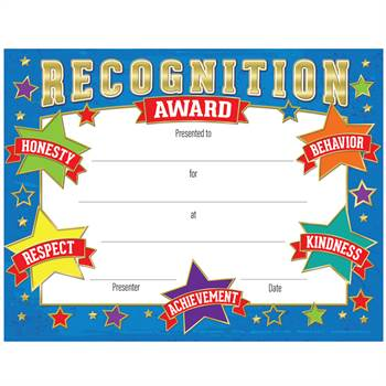 Recognition Award Gold Foil-Stamped Certificates - Pack of 25