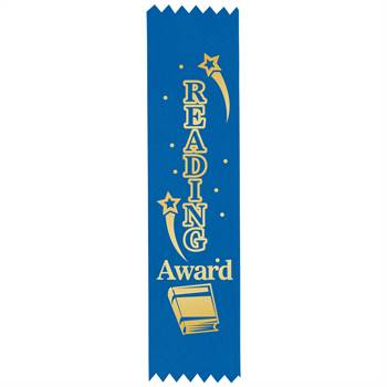 Reading Award Gold Foil-Stamped Satin Ribbons