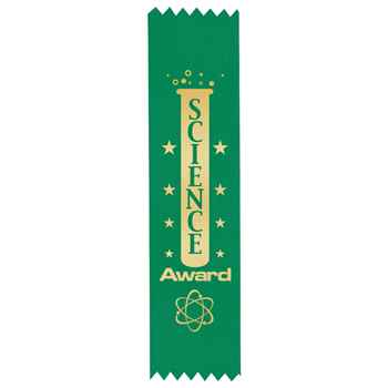 Science Gold Foil-Stamped Satin Ribbons