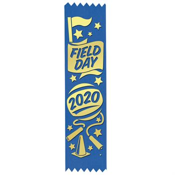 Field Day 2020 Gold Foil-Stamped Participant Ribbons - Pack of 100