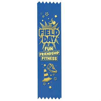 Field Day Fun, Friendship, Fitness Gold Foil-Stamped Participant Ribbons - Pack of 100