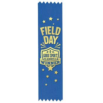 Field Day A Good Sport Is Always A Winner Gold Foil-Stamped Participant Ribbons - Pack of 100