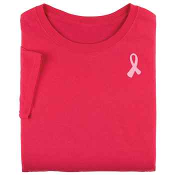 Awareness Pink Ribbon Heliconia Pink T-Shirt