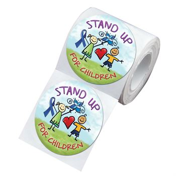 Stand Up For Children Stickers On-A-Roll