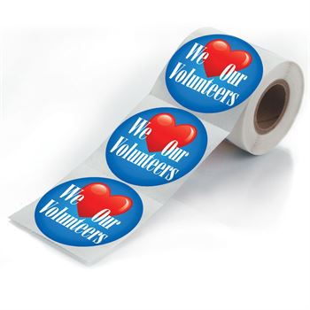 We Love Our Volunteers Stickers-On-A-Roll