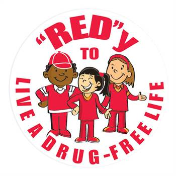 Red-Y To Live A Drug-Free Life Theme Day Stickers - Roll of 200
