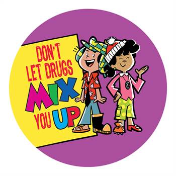 Don't Let Drugs Mix You Up Theme Day Stickers - Roll of 200