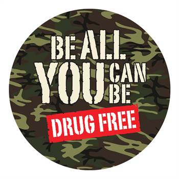 Be All You Can Be Drug Free Theme Day Stickers - Roll of 200