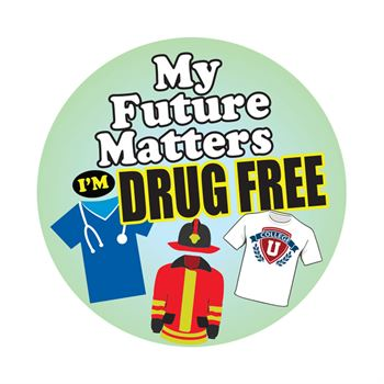 My Future Matters I'm Drug Free Stickers - Roll of 200