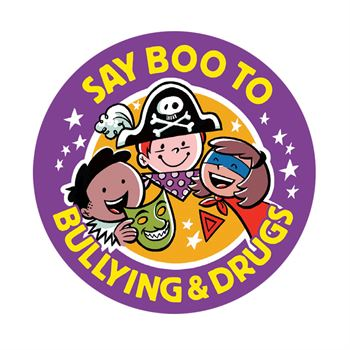Say Boo To Bullying & Drugs�Theme Day Stickers - Roll of 200