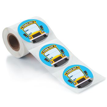School Bus ID Stickers - 100 Per Roll