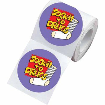 Sock It To Drugs Stickers-on-a-Roll