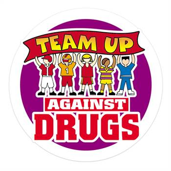 Team Up Against Drugs Stickers-On-A-Roll