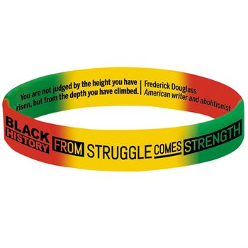 Black History: From Struggle Comes Strength 2-Sided Silicone Bracelet