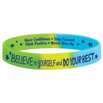 Believe In Yourself And Do Your Best Silicone Bracelets - Pack of 10