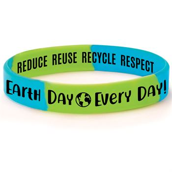 Earth Day Every Day! Silicone Bracelets - Pack of 10