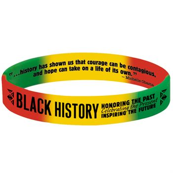 Black History: Honoring The Past, Celebrating The Present, Inspiring The Future Silicone Bracelet - Pack of 10