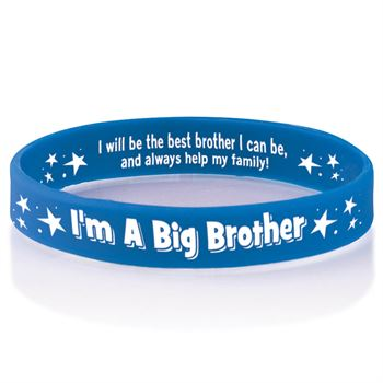 I'm A Big Brother Sibling Silicone Bracelet