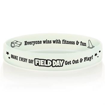 Make Every Day Field Day Get Out & Play! Color-Changing 2-Sided Silicone Bracelets - Pack of 10