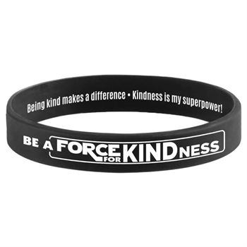Be A Force For Kindness 2-Sided Silicone Bracelets - Pack of 10