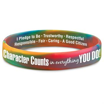 Character Counts In Everything You Do! 2-Sided Silicone Bracelet