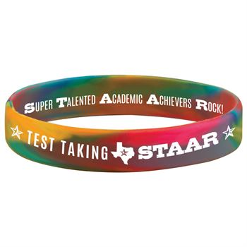 Test Taking STAAR 2-Sided Silicone Bracelets - Pack of 10