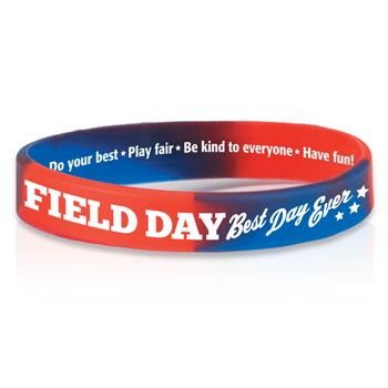 Field Day: Best Day Ever 2-Sided Silicone Bracelets - Pack of 10