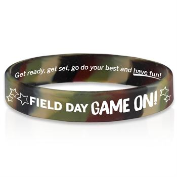 Field Day Game On! Camo 2-Sided Silicone Bracelets