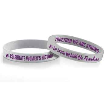 Women's History: Be Brave, Be Bold, Be Fearless 2-Sided Silicone Bracelet