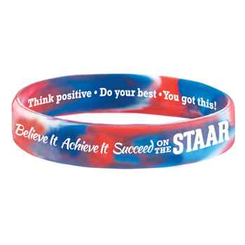 Believe It, Achieve It, Succeed On The STAAR 2-Sided Silicone Bracelets - Pack of 10