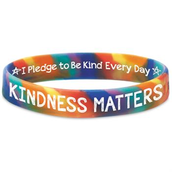 Kindness Matters I Pledge To Be Kind Every Day�2-Sided Silicone Bracelets - Pack of 25