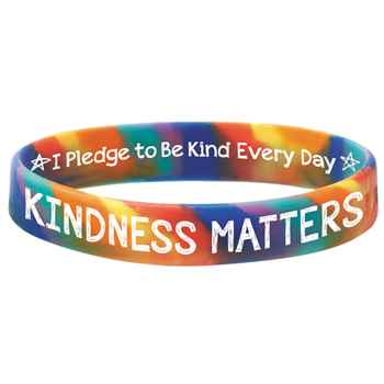 Kindness Matters 2-Sided Silicone Bracelet - Pack of 10