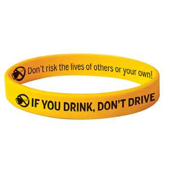 If You Drink, Don't Drive Silicone Bracelet With Key Logo