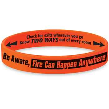 Be Aware, Fire Can Happen Anywhere Fire Safety Mood-Changing Silicone Bracelet