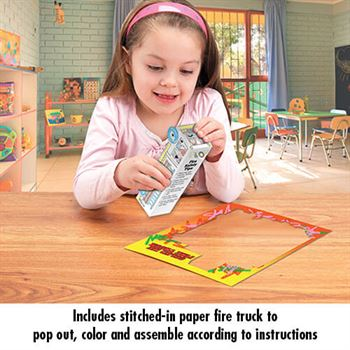 Let's Learn The ABC's Of Fire Safety Educational Activities Book - Personalized