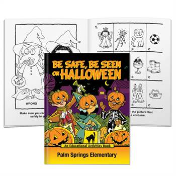 Be Safe, Be Seen On Halloween Educational Activities Book With Mask - Personalization Available