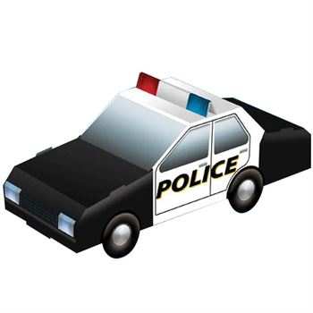 Let's Visit The Police Department Activities Book With Paper Police Car - Personalization Available