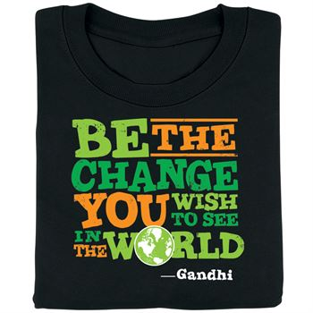 Be The Change You Wish To See In The World Youth T-Shirt
