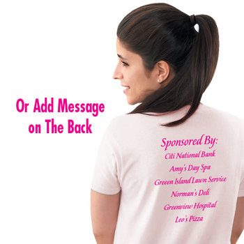 Pink Strength, Awareness, Courage Women's Cotton Cut T-Shirt - Personalization Available