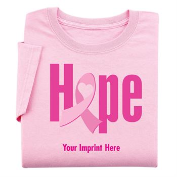 Pink Hope Women's Cut Breast Cancer Awareness Cotton T-Shirt - Personalization Available