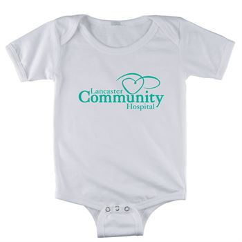 Rabbit Skins® Infant Short-Sleeve White Onesie - Personalization Available