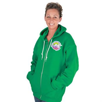 Ringspun Full-Zip Hooded Women's Sweatshirt By Anvil® - Personalization Available
