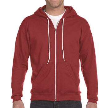 Ringspun Full-Zip Hooded Men's Sweatshirt By Anvil® - Personalization Available