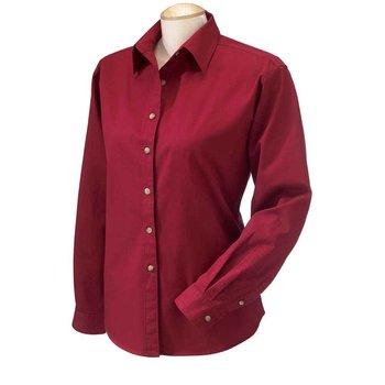 daa3a430b17 Cotton Ladies Long-Sleeve Titan Twill Button-Down Shirt - Personalization  Available. SHP2358 1.jpg