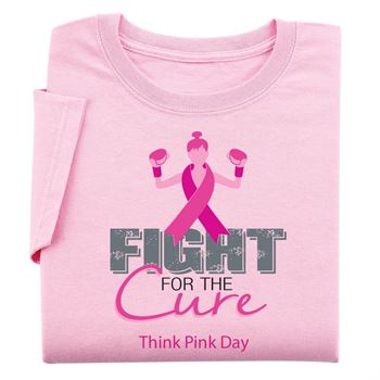 Fight For The Cure - Womens Cut Awareness T-Shirt With Personalization