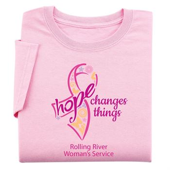 Hope Changes Things - Women's Cut Awareness T-Shirt With Personalization