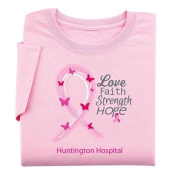 Love, Faith, Strength, Hope - Women's Cut Awareness T-Shirt With Personalization