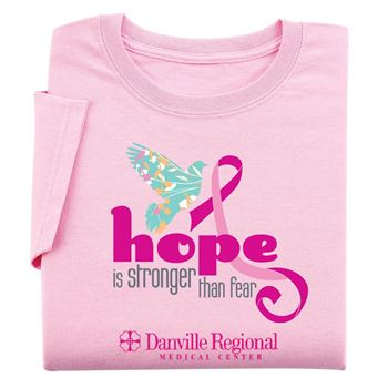 Hope Is Stronger Than Fear - Womens Cut Awareness T-Shirt With Personalization
